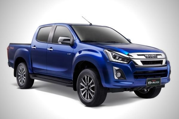 A picture of the D-Max in blue