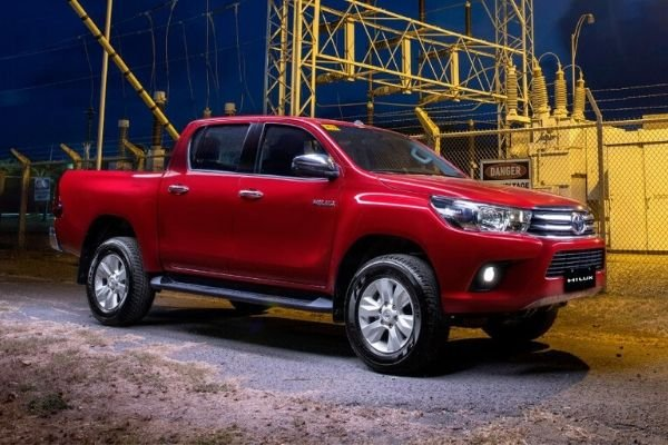 Red Toyota Hilux