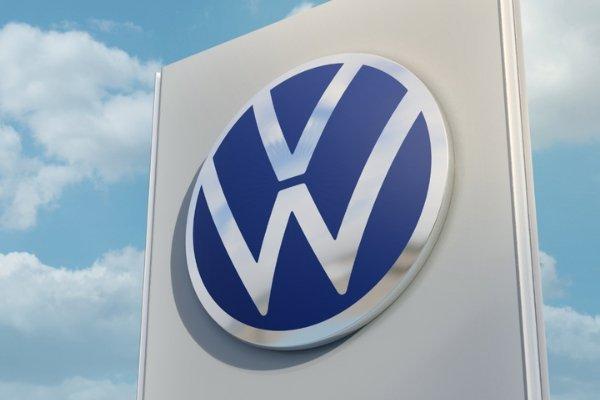 A big Volkswagen logo