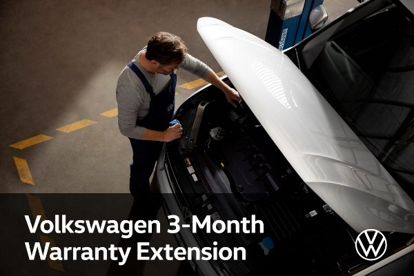 Volkswagen's 3 month warranty extension press release photo