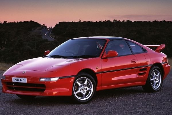 A picture of the 2nd gen Toyota MR2 in red