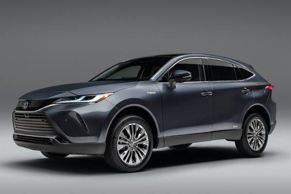 A picture of the 2021 Toyota Venza crossover in a studio