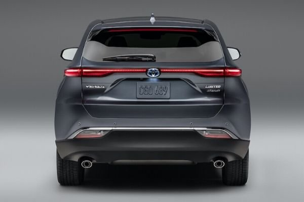 A picture of the 2021 Toyota Venza's rear end