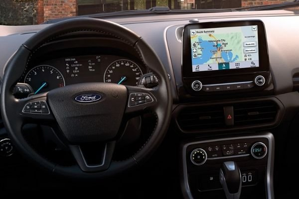 A picture of the interior of the Ford EcoSport