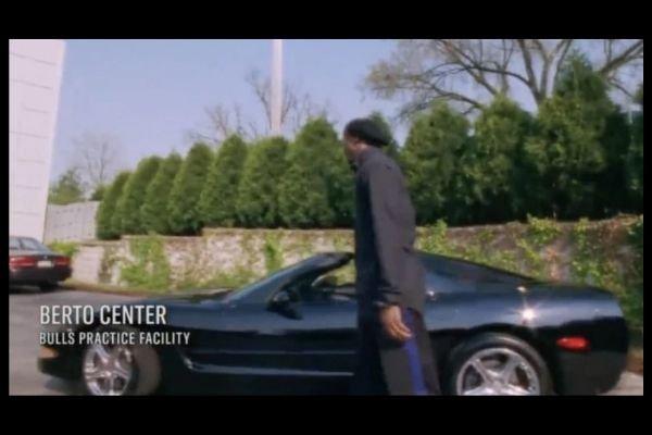 A picture of MJ with his rare Corvette