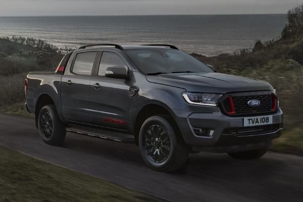 A picture of the Ford Ranger Thunder on the road