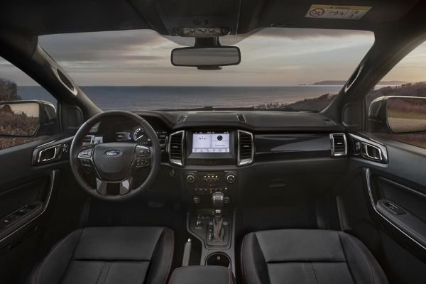 A picture of the interior of the Ford Ranger Thunder