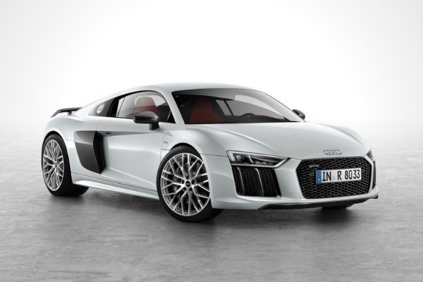 An R8 with a white background