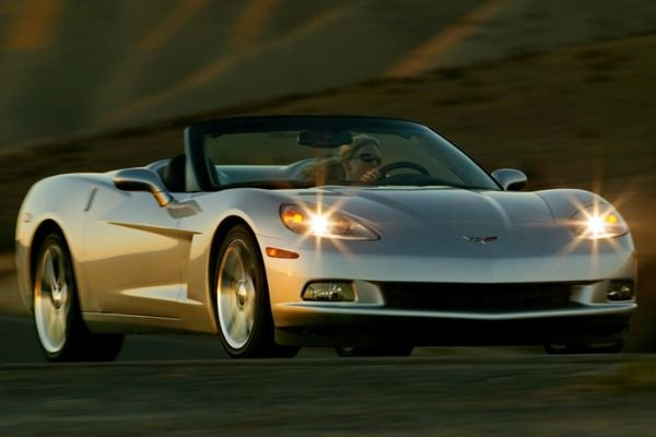 A picture of the Chevrolet Corvette on a country road
