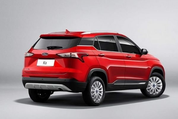 A picture of the EcoSport's rear