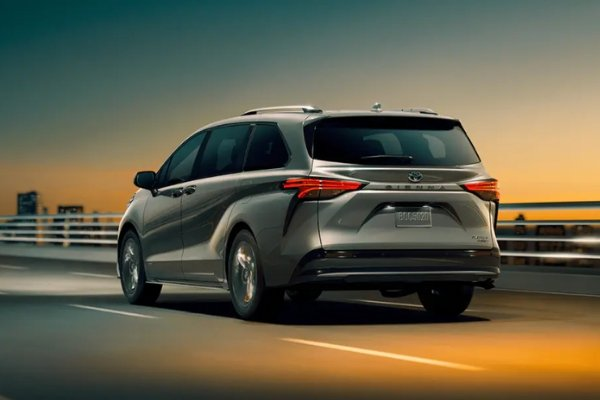 Rear view of the Sienna