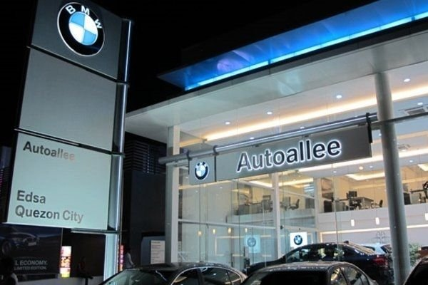 A picture of a BMW dealership in Quezon City