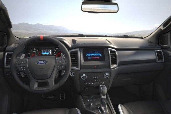 The infotainment system of the Raptor