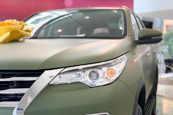 Headlight of a Fortuner