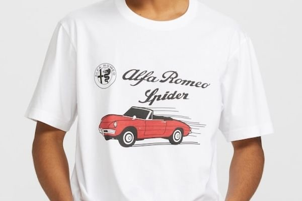 A picture of the Uniqlo Alfa Romeo Guila shirt