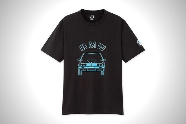 A picture of the Uniqlo BMW brand shirt