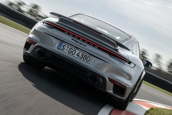 A picture of the Porsche 911 on a racetrack