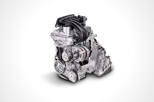 The 1.5-liter gasoline engine of the Nissan Almera