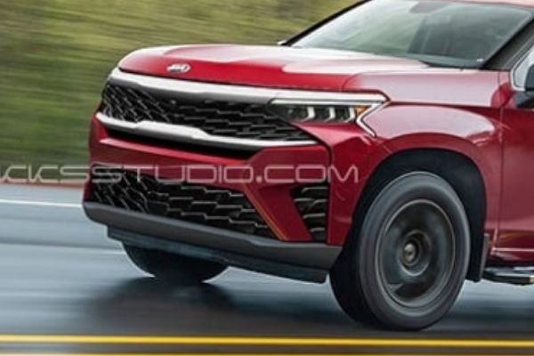 A picture of the front of the Kia pickup truck render
