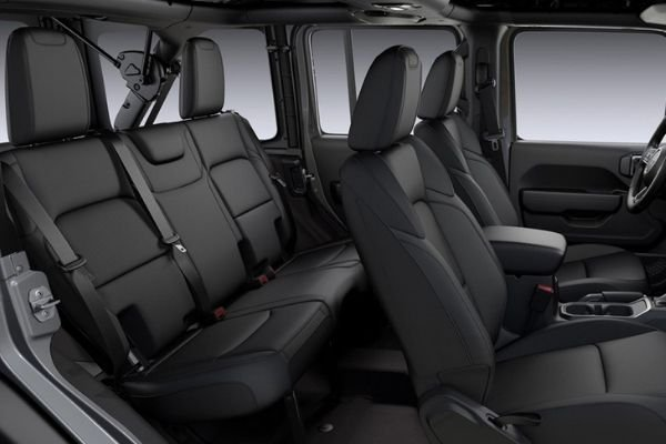A picture showing the passenger row of the Wrangler