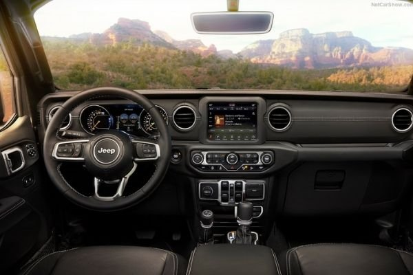 A picture of the Wrangler's dashboard