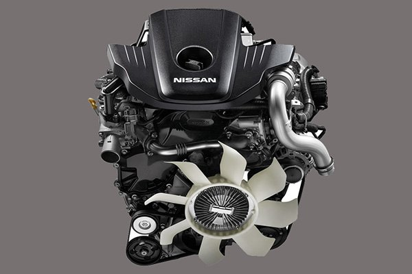 A picture of the Nissan Terra's engine