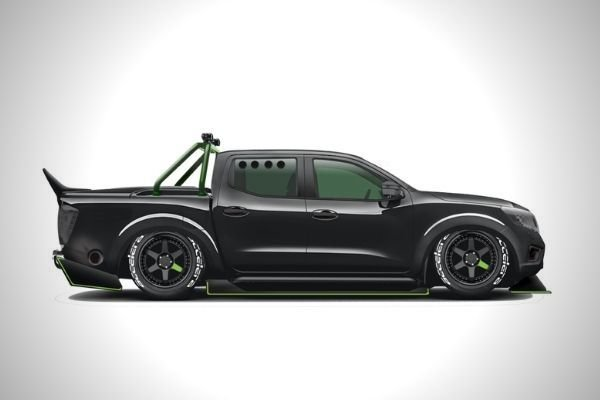 A picture of the side of the Navara-R