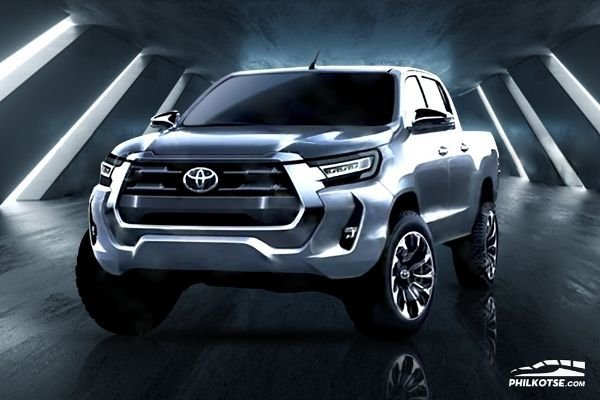 A picture of the Toyota Hilux facelift render