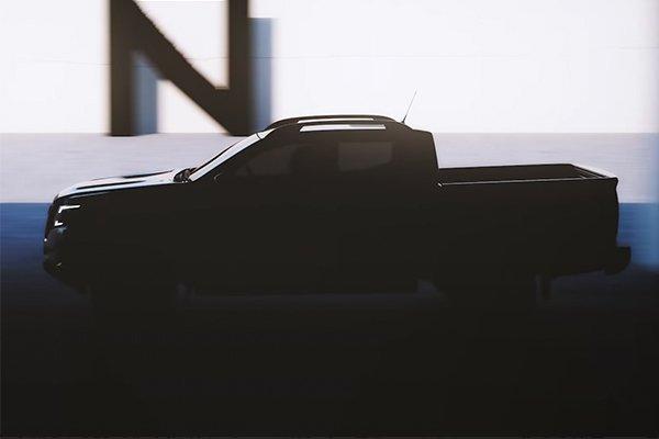 Next-gen Nissan Navara teaser image