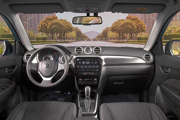 A picture of the interior of the Suzuki Vitara
