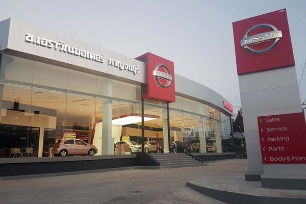 A Nissan dealership in Thailand