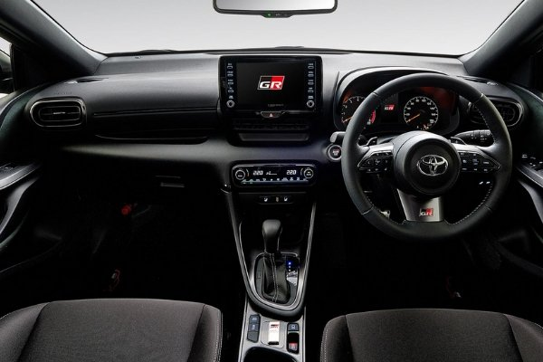 Interior view of the Yaris