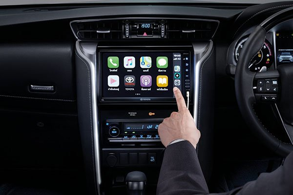 A picture of the 2020 Toyota Fortuner's updated touchscreen