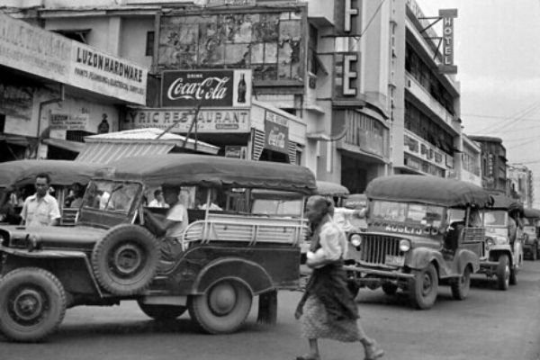 Black and white Jeepney