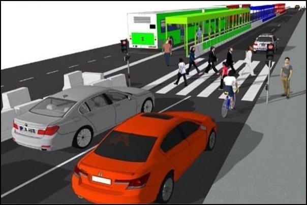 EDSA new road layout under GCQ