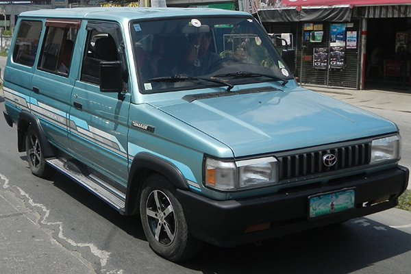 A picture of the Toyota Tamaraw FX being parked
