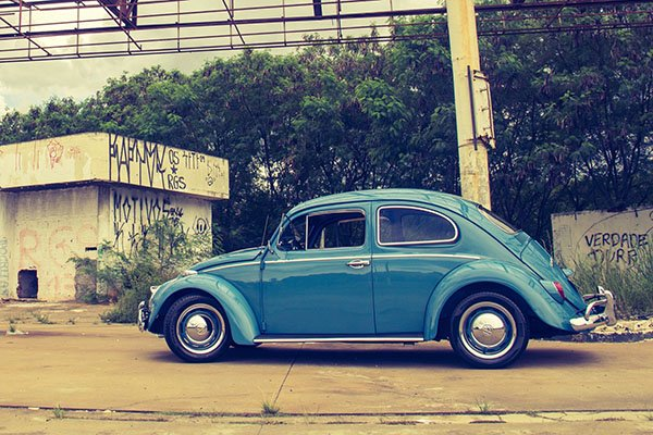 A picture of a Volkswagen Beetle