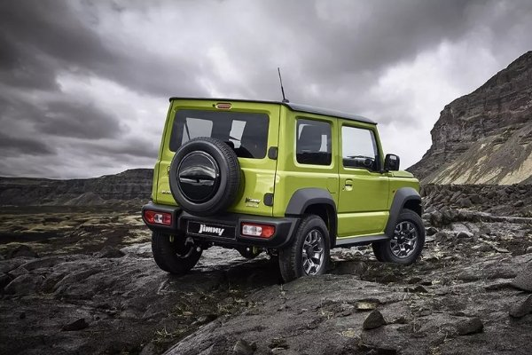Rear view of the Jimny