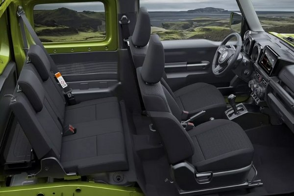 Interior view of the Suzuki Jimny
