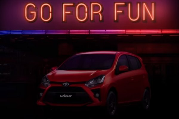 The new Wigo in a teaser released by Toyota Philippines