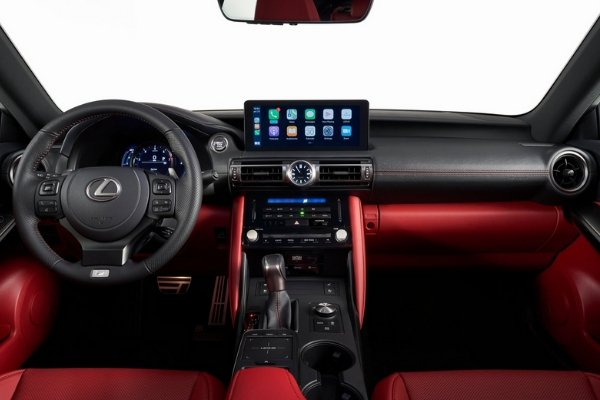 Interior view of the Lexus IS