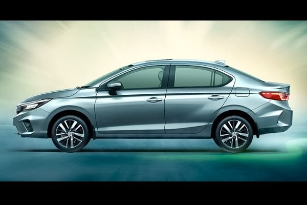 Side view of the Honda City