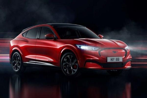 Mustang Mach-E red