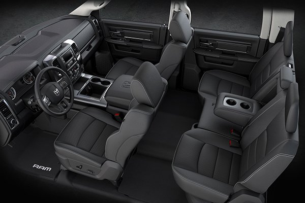 A picture of the interior of the RAM 1500