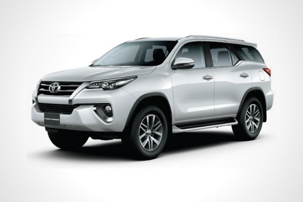 A Toyota Fortuner with white background