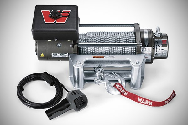 A picture of a Warn winch