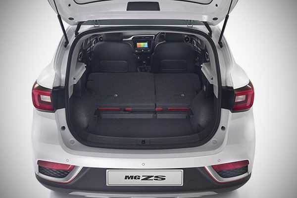 A picture of the MG ZS Anfield with its trunk open