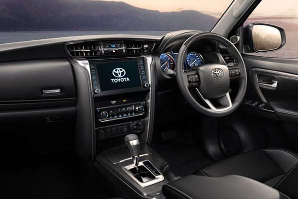 A picture of the interior of the Toyota Fortuner Legender