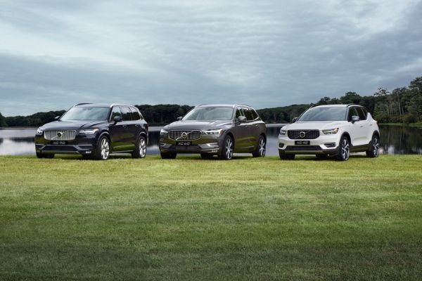Volvo SUVs lined up