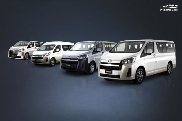 A picture of the TMP Hiace variant lineup